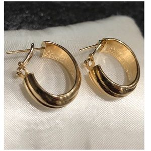 Milor 18KT Yellow Gold Leverback Italy Earrings
